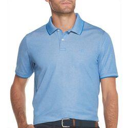 IZOD Mens Advantage Solid Logo Polo Shirt
