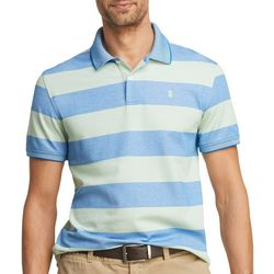 IZOD Mens Advantage Rugby Striped Short Sleeve Polo Shirt