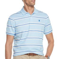 Mens Advantage Multi Stripe Polo Shirt