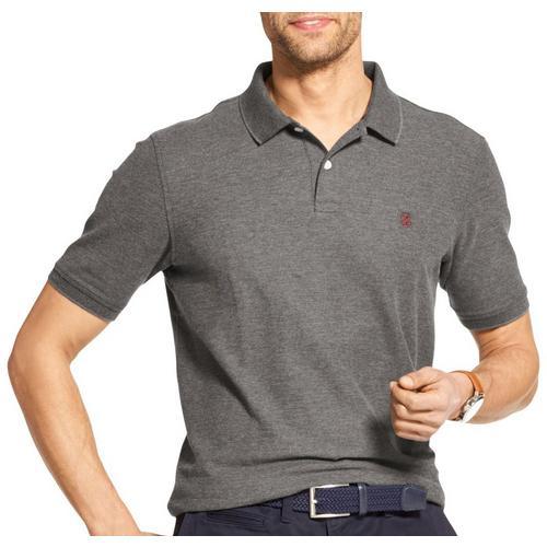 IZOD Short Sleeves Polo Shirt for Men Performance Pique Polo