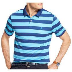IZOD Mens Advantage Performance Striped Print Polo Shirt