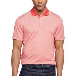 Van Heusen Mens Ottoman Stripe Short Sleeve Polo Shirt