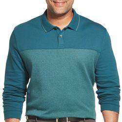 Mens Big & Tall Flex Colorblock Polo Shirt