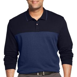 Van Heusen Mens Big & Tall Flex Colorblock Polo Shirt
