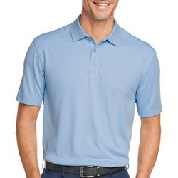 Van Heusen Mens Solid Ottoman Short Sleeve Polo Shirt