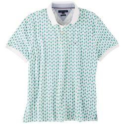 Tommy Hilfiger Mens Mini Palm Print Polo Shirt