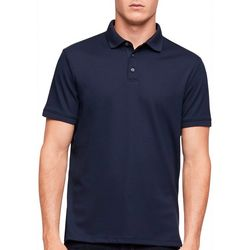 Calvin Klein Mens Liquid Touch Solid Polo Shirt