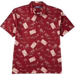 Windham Pointe Mens Santa Postcard Performance Polo Shirt