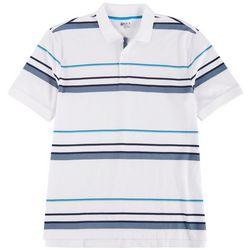 Boca Classics Mens Short Sleeve Stripe Polo Shirt