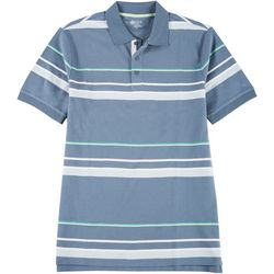 Boca Classics Mens Short Sleeve Stripe Polo Shirt