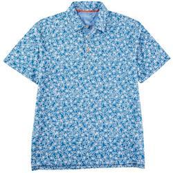 Mens Tropical Floral Short Sleeve Polo Shirt