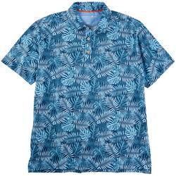 Mens Tropical Fronds Short Sleeve Polo Shirt