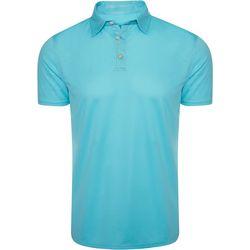 Caribbean Joe Mens Solid Textured Polo Shirt