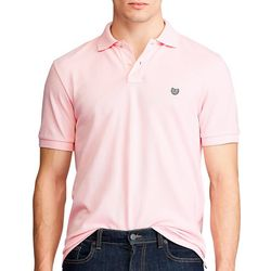 Chaps Mens Solid Everyday Polo Shirt