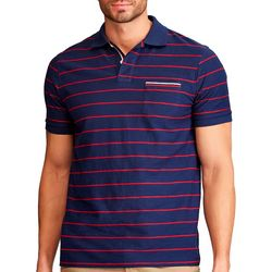 Chaps Mens Americana Stripe Polo Shirt