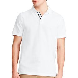 Sperry Mens Short Sleeve Textured Stripe Polo Shirt