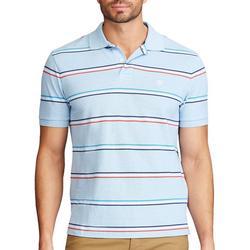 Mens Striped Everyday Pique Polo Shirt