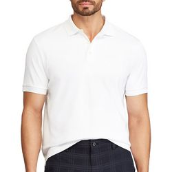 Chaps Mens Solid Interlock Polo Shirt