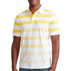 Chaps Mens Ombre Stripes Cotton Slub Polo Shirt