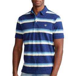 Chaps Mens Striped Slub Polo Shirt