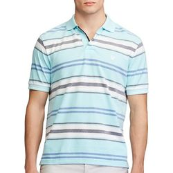 Chaps Mens Striped Birdseye Polo Shirt