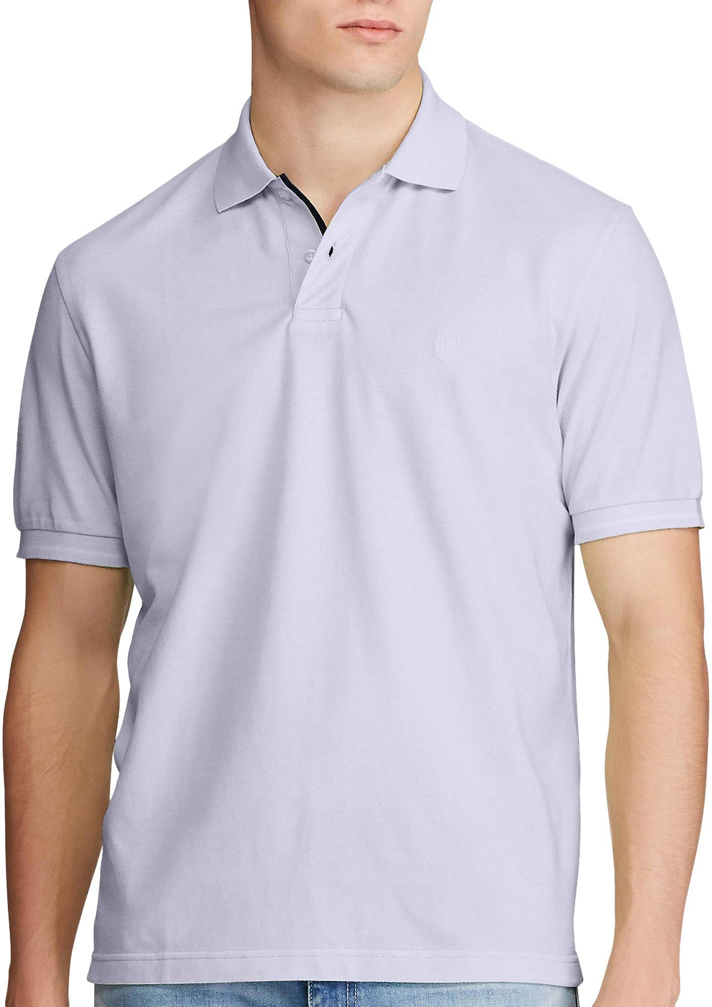 Grey X-Large PGA Tour Mens Long-Sleeve Birdseye Rugby Polo Shirt