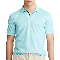 Chaps Mens Birdseye Printed Polo Shirt