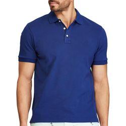 Chaps Mens Solid Interlock Polo Shirt