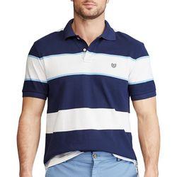 Chaps Mens Large Striped Interlock Polo Shirt
