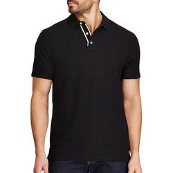 Chaps Mens Black & White Contrast Polo Shirt
