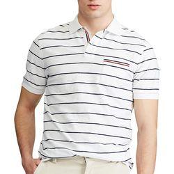 Chaps Mens Americana Striped Everyday Pique Polo Shirt