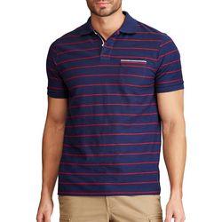Chaps Mens Americana Stripe Everyday Pique Polo Shirt