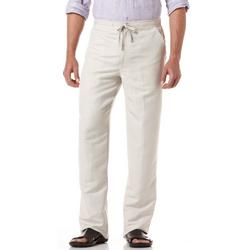 Mens Linen Blend Drawstring Pants