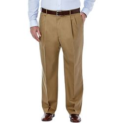 Haggar Mens Big & Tall No Iron Pleated