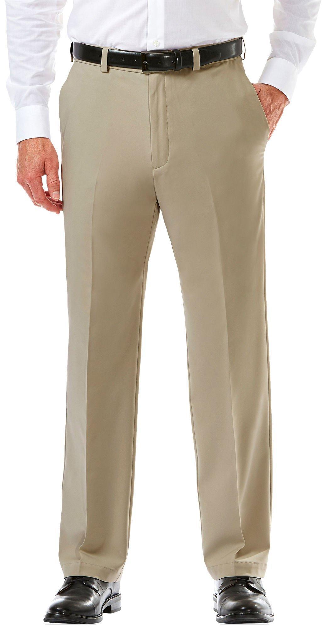 Haggar Mens J.m Premium Stretch Classic Fit Plain Front Pant Suit Pants Separate
