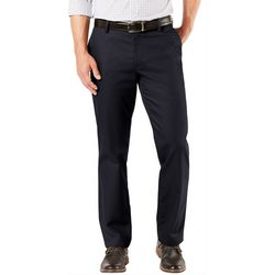 Mens Signature Straight Flat Front Pants