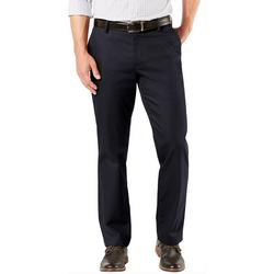 Mens Signature Straight Flat Front Pants