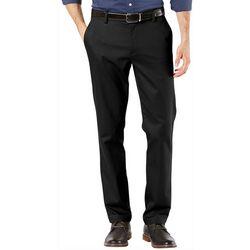Dockers Mens Signature Slim Fit Lux Flat Front Pants