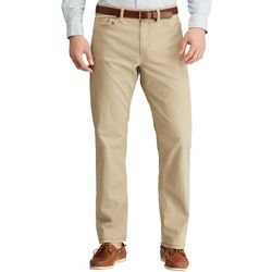 Mens Solid Stretch Twill Pants
