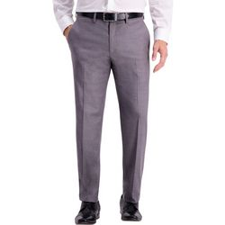 Haggar Mens Solid Slim Fit Pants