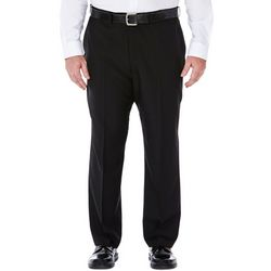 Haggar Mens Big & Tall eCLo Stria Dress Pants