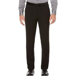 Mens Solid Stretch Dress Pants