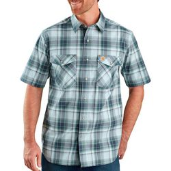 Carhartt Mens Short Sleeve Relaxed Fit Plaid Shirt