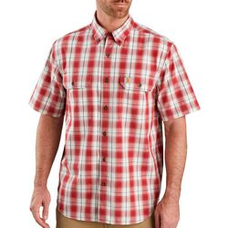 Carhartt Mens Short Sleeve Original Fit Plaid Shirt
