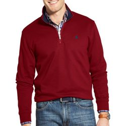 IZOD Mens Quarter Zip Solid Pullover