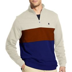 IZOD Mens Colorblock Fleece Jacket