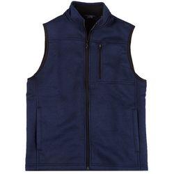 IZOD Mens Full Zip Fleece Sweater Vest