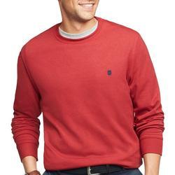 Mens Solid Fleece Crew Neck Pullover