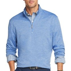 Van Heusen Mens Heathered Air Quarter Zip Pullover