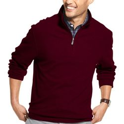 Van Heusen Mens Never Tuck Slim Fit Quarter Zip Pullover
